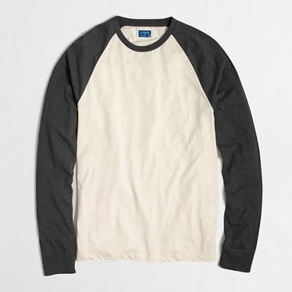 Tall long-sleeve baseball T-shirt