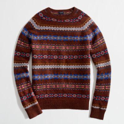 Factory lambswool Fair Isle sweater : | Factory