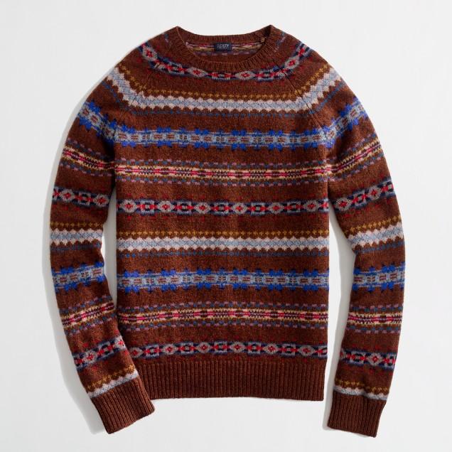 Factory lambswool Fair Isle sweater