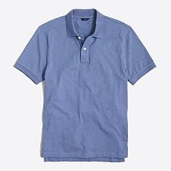 Textured cotton polo shirt