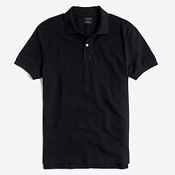 Factory slim washed piqué polo shirt