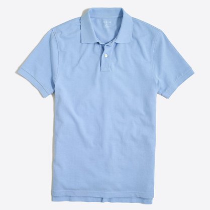 Tall washed piqué polo shirt