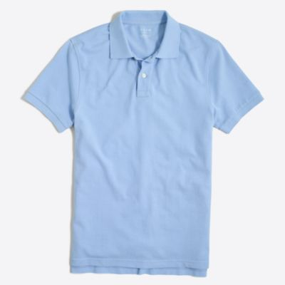 Slim washed piqué polo shirt factorymen slim c