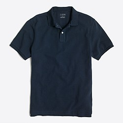 Slim washed piqué polo shirt
