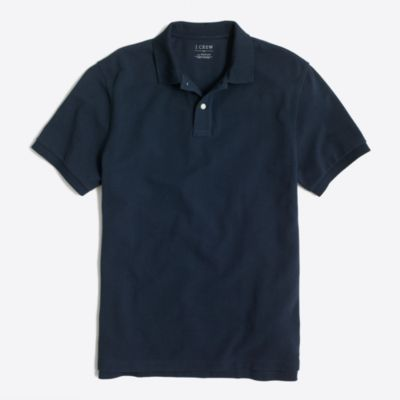 Slim washed piqué polo shirt   search