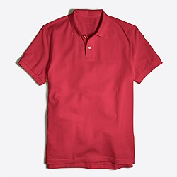 Washed piqué polo shirt