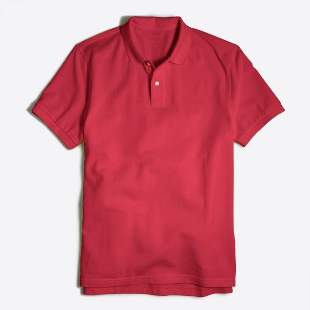 Tall washed piqué polo shirt