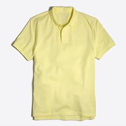 Slim washed piqué polo shirt