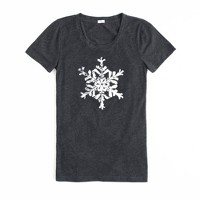 Factory painted snowflake tee