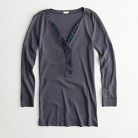 Factory perfect-fit ruffle henley