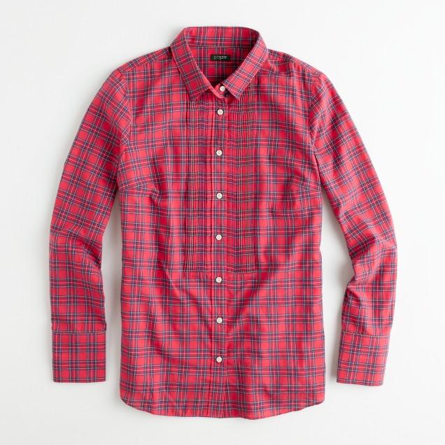 Factory tartan tuxedo shirt