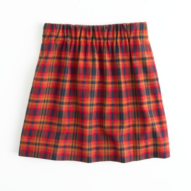 Factory cypress plaid skirt