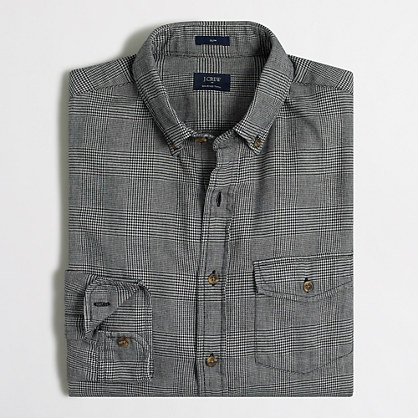 Slim brushed twill shirt