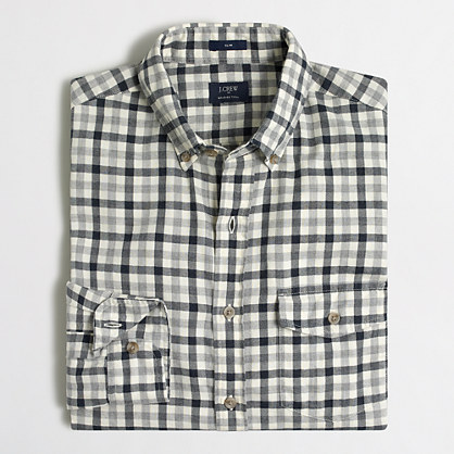 Factory brushed twill shirt brushed twill j crew factory for Brushed cotton twill shirt