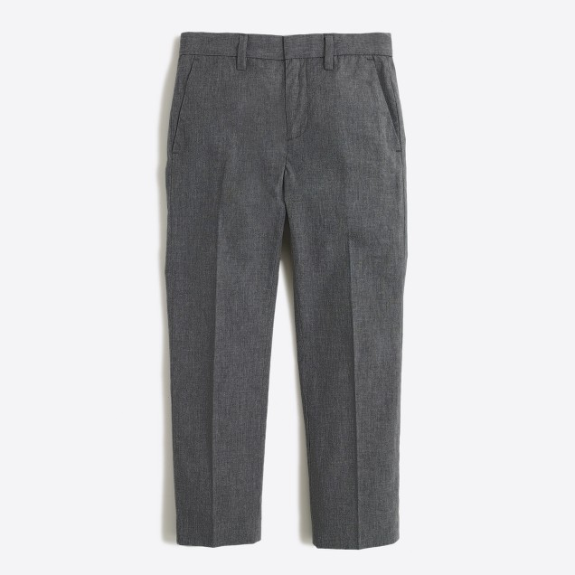 Boys' Thompson suit pant in heather grey