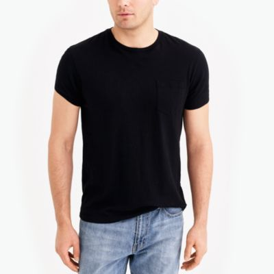 Slim washed pocket T-shirt factorymen new arrivals c
