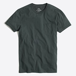 Factory slim washed pocket T-shirt