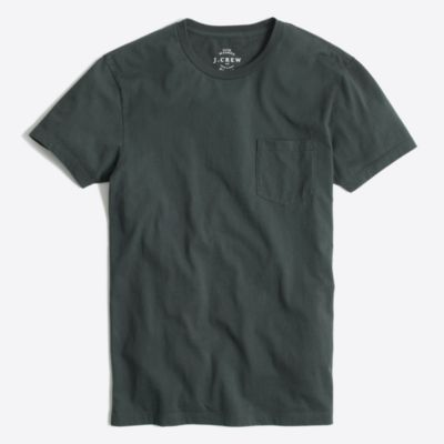 Slim washed pocket T-shirt factorymen slim c