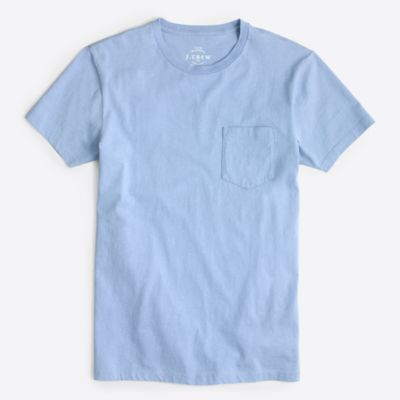 Slim washed pocket T-shirt factorymen t-shirts & henleys c