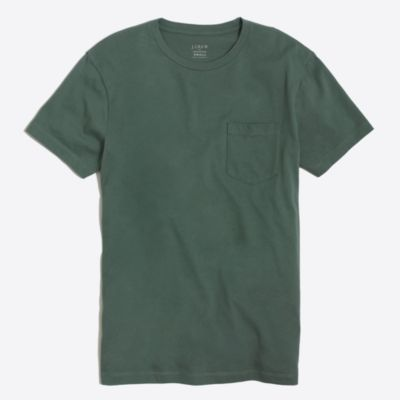Slim washed pocket T-shirt