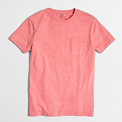 Factory slim washed pocket T-shirt