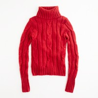 Factory Cambridge cable ribbed turtleneck sweater