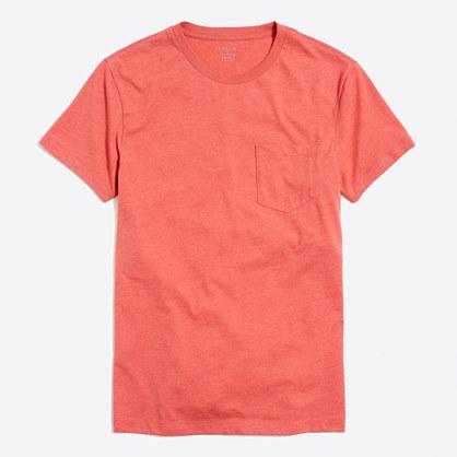 Tall slim heathered washed pocket T-shirt