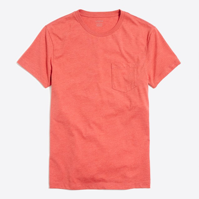 Slim heathered washed pocket T-shirt