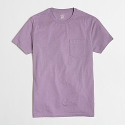 Factory slim heathered washed pocket T-shirt