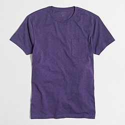 Slim heathered washed pocket T-shirt