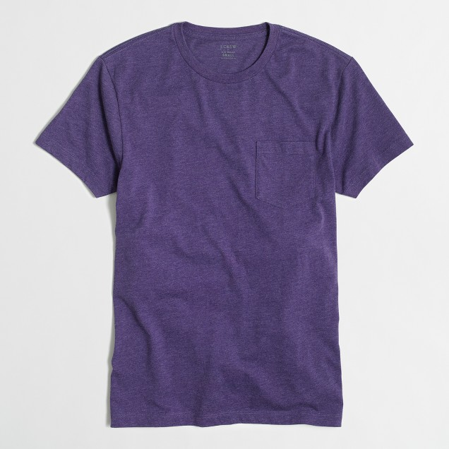 Tall slim heathered washed pocket T-shirt