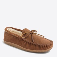 Shearling moccasins