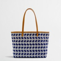 Factory girls' printed canvas tote