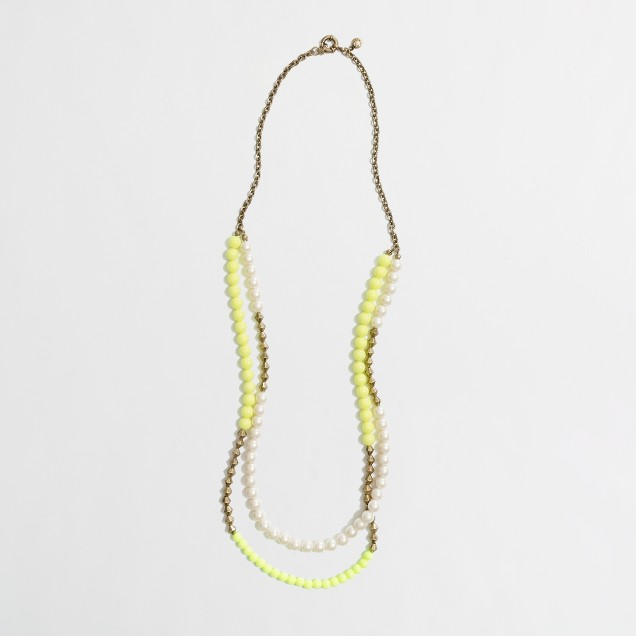 Factory multicolor bead and pearl necklace