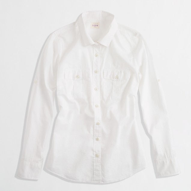 Cotton voile camp shirt in perfect fit
