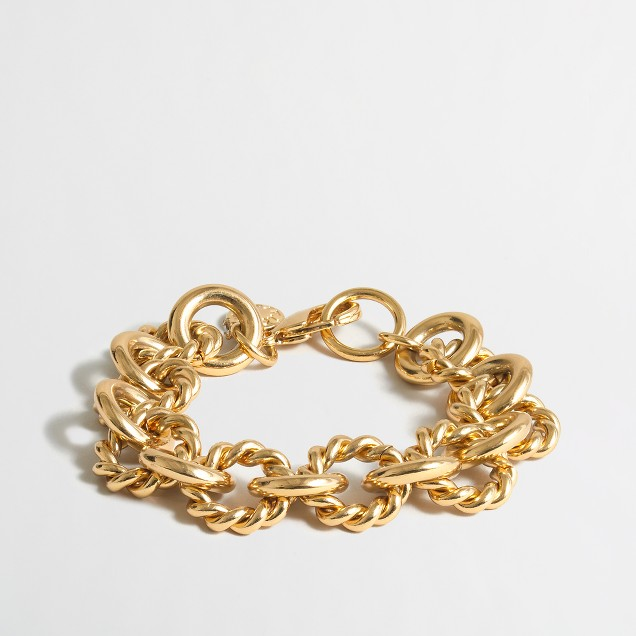 Gold-plated chain-link bracelet