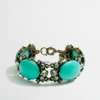 Factory stone and dotted crystal link bracelet