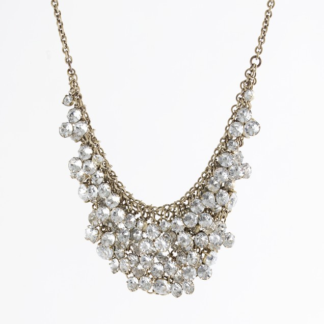 Factory mixed metal crystal bib necklace
