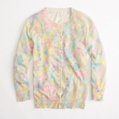 Factory spring floral cardigan