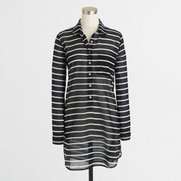 Factory stripe two-pocket tunic