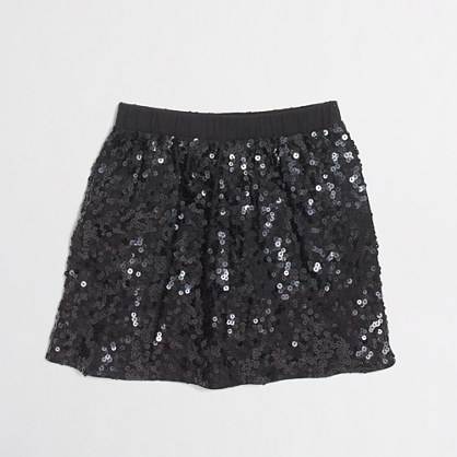Factory girls' knit sequin skirt
