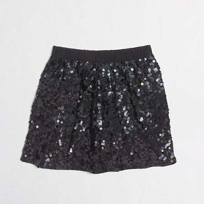 Factory girls' knit sequin skirt