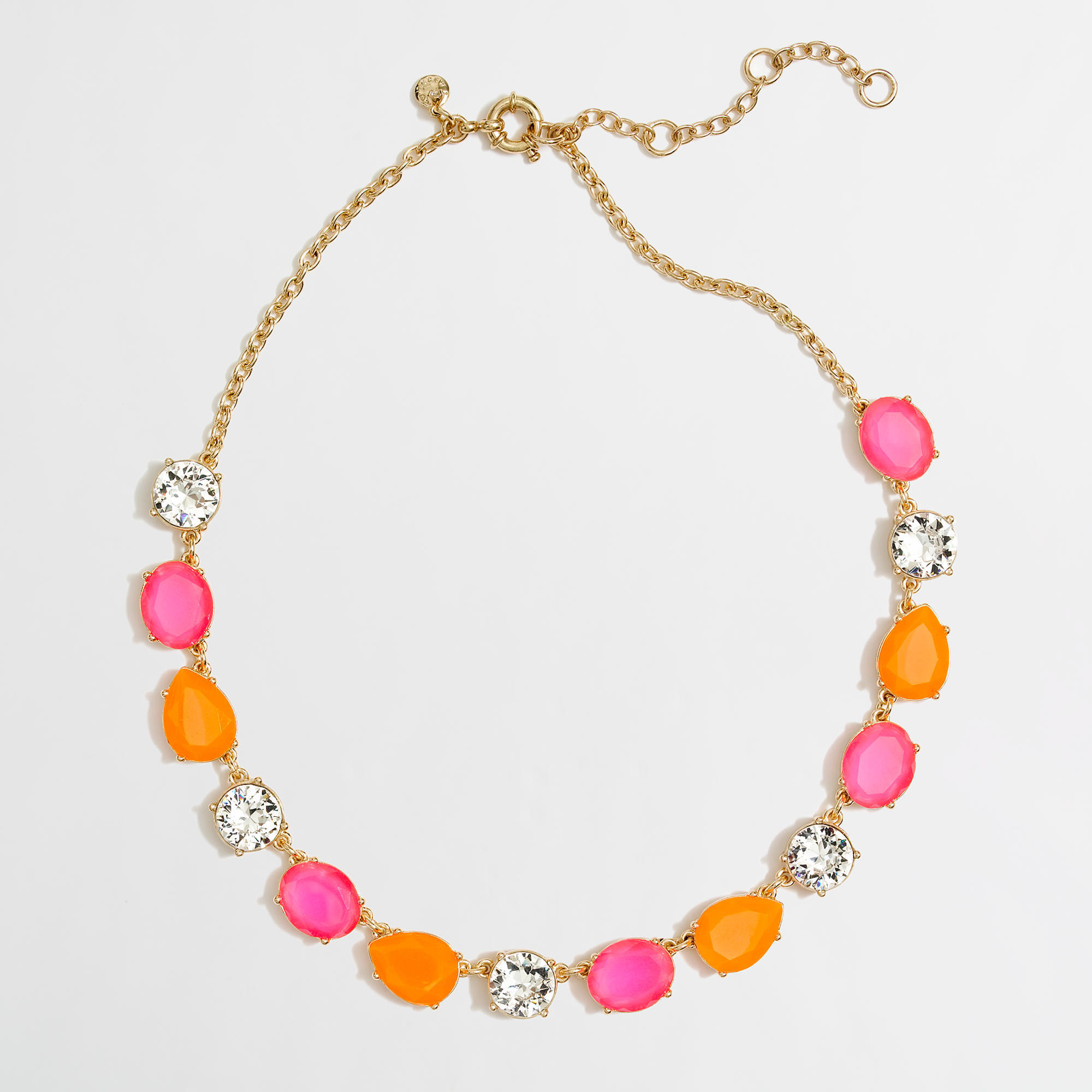 Factory Neon Stone And Crystal Necklace Factorywomen Necklaces