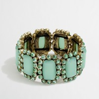Factory stone and dotted crystal bracelet