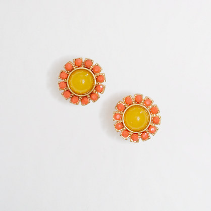 Factory crystal sun stud earrings