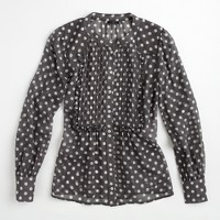 Factory printed silk posy blouse