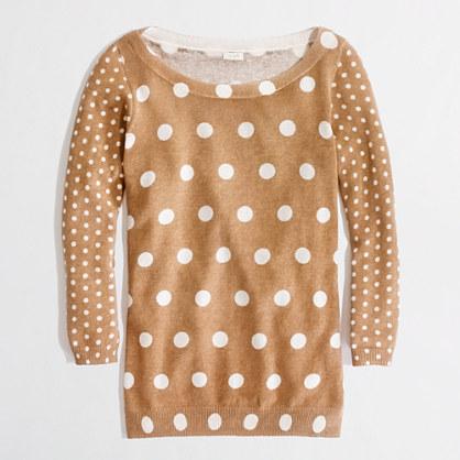 Factory linen-cotton polka-dot popover