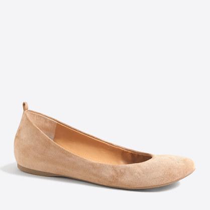Anya suede ballet flats
