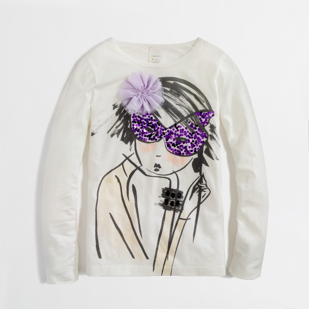 Factory girls' long-sleeve costume party keepsake tee