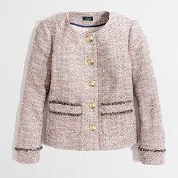Factory shrunken tweed jacket